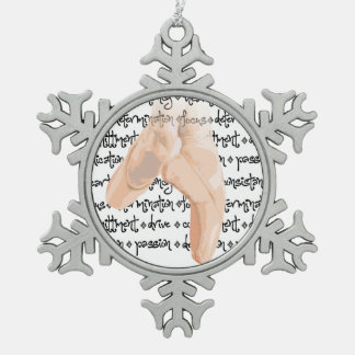 Pointe Schuhe Schneeflocken Zinn-Ornament