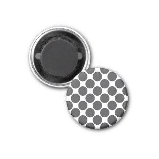 Points gris-foncé carrelés magnet carré 2,50 cm