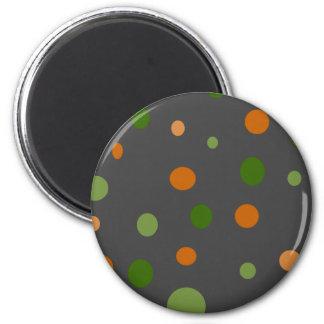 Points sur le gris magnet rond 8 cm