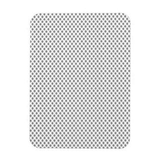 Pois gris sur le blanc magnets rectangulaires