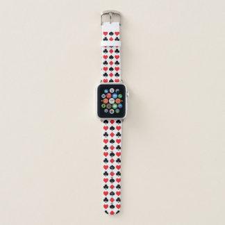 Poker-Anzugs-Muster Apple Watch Armband