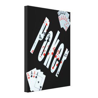 Poker-Bild-Karten-Logo, Leinwanddruck