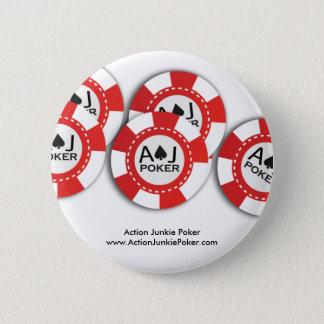 Poker-Chip-Button Runder Button 5,1 Cm