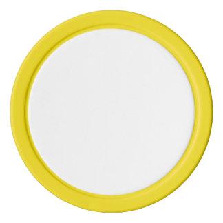 Poker-Chips mit gelbem festem Rand Poker Chips Set