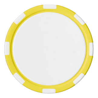 Poker-Chips mit gelbem gestreiftem Rand Poker Chip Set