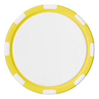 Poker-Chips mit gelbem gestreiftem Rand Pokerchips