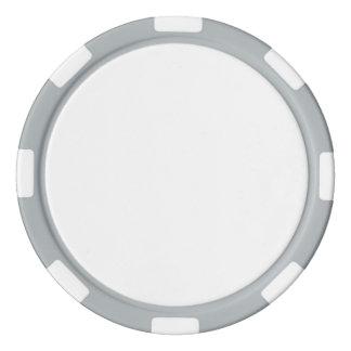 Poker-Chips mit grauem gestreiftem Rand Poker Chip Set