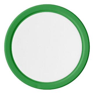 Poker-Chips mit grünem festem Rand Poker Chips Set