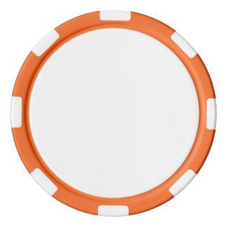 Poker-Chips mit orange gestreiftem Rand Poker Jetons