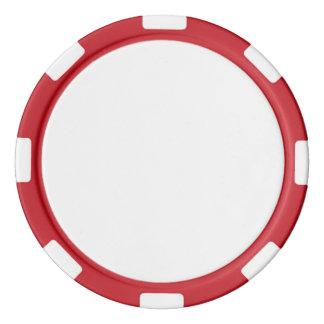 Poker-Chips mit rotem gestreiftem Rand Poker Chip Sets