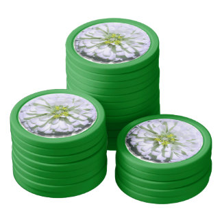 Poker-Chipset - Lemony weißer Zinnia Poker Chip Set