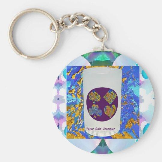 Poker-Goldmeister-Glas Schlüsselanhänger