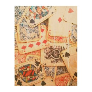 """Poker-"" hölzerne Wand-Kunst Holzwanddeko"