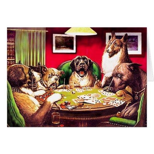Poker-Hunde:  Waterloo Grußkarte