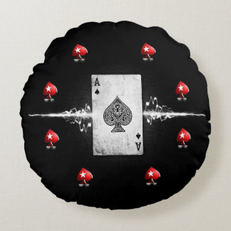 Poker-Kissen Rundes Kissen