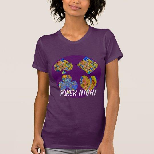 POKER-NACHTsymbole verurteilen Jersey-T - Shirt