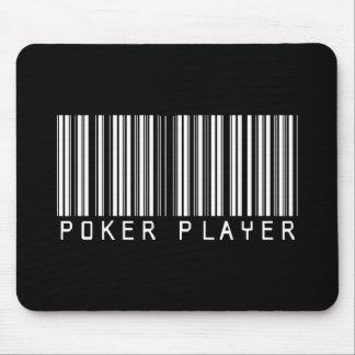 Poker-Spieler-Bar-Code Mousepad