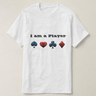 Poker-Spieler-Karten-Haifisch T-Shirt