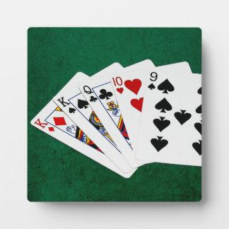 Poker übergibt - ein Paar - König Fotoplatte