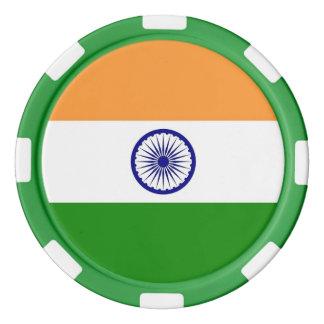Pokerchips mit Flagge von Indien