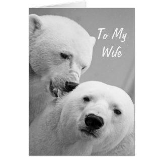Polare Bärn-Ehemann zur Ehefrau-Jahrestags-Karte Karte