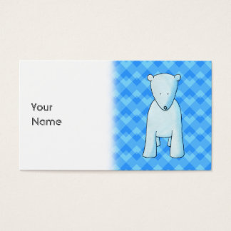 Polarer Bär des niedlichen Babys Visitenkarte