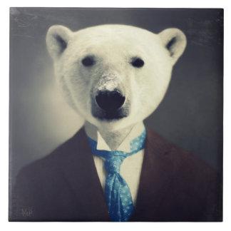 """""""Polarer Bär in einem Anzug"""" ursprüngliche Keramikfliese"""