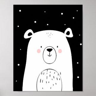 Polarer Bär Poster
