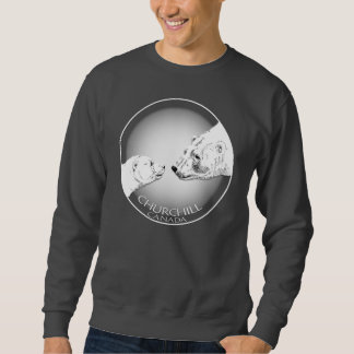 Polarer Bärn-Kunst-Sweatshirt Churchill Sweatshirt