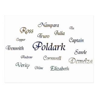 Poldark Namen Postkarte