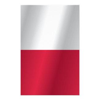 Polen-Flagge Briefpapier