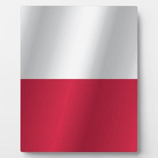 Polen-Flagge Fotoplatte