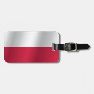 Polen-Flagge Gepäckanhänger