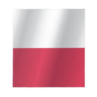 Polen-Flagge Notizblock