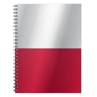 Polen-Flagge Spiral Notizblock