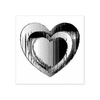Polierchrom-Herz Gummistempel