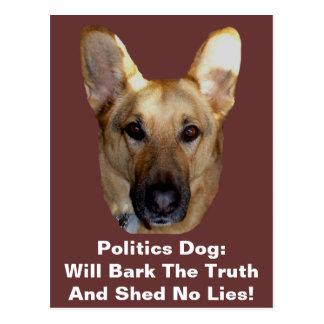 Politik-Schäferhund-Hund streift die Wahrheit ab Postkarten