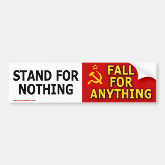 """Politik """"Stand für nichts"""" Autoaufkleber"""