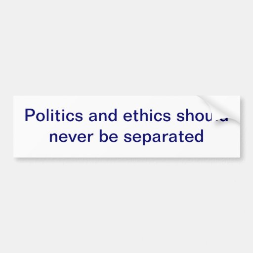 Politik- und Ethik-Autoaufkleber