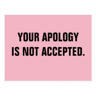 Politiker Ihre Entschuldigung wird nicht Postkarte