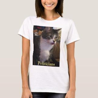 Politiker-lustige Katze mit der Zunge heraus T-Shirt