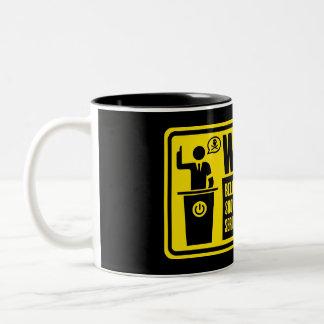 Politiker-warnende Becher Kaffeetassen