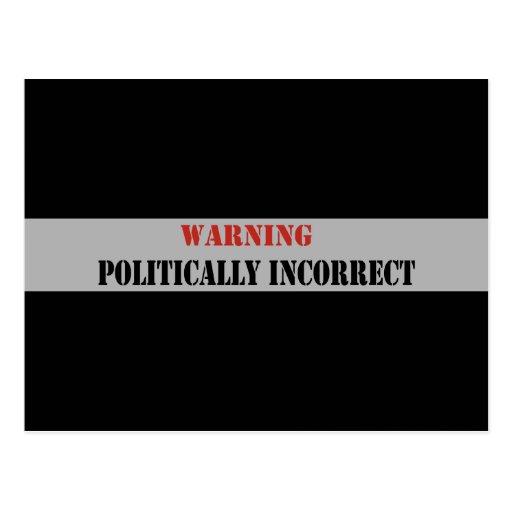 Politisch falsch postkarte