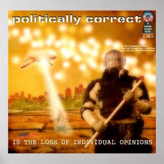 Politisch ist der Verlust der Einzelperson korrekt Plakatdrucke