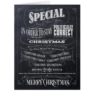 Politisch korrekte Tafel-Weihnachtskarte - wir Karte
