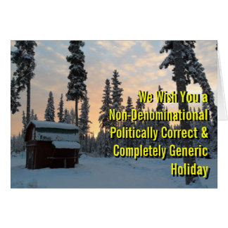 Politisch korrekter Feiertag Karten