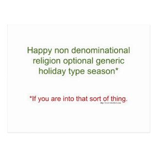 Politisch korrekter Feiertag Postkarte