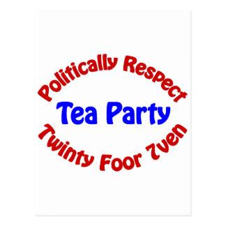 Politisch Respekt - Tee-Party Postkarten