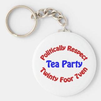 Politisch Respekt - Tee-Party Standard Runder Schlüsselanhänger