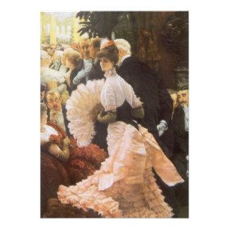 Politische Dame durch James Tissot, Vintages Ankündigungen